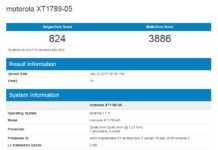 Moto Z2 Force on Geekbench listing