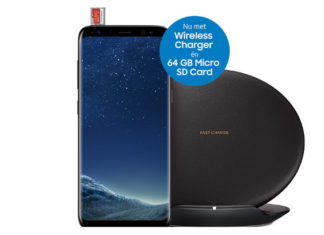 Wireless Charger and a 64GB Micro SD Card when purchasing a Samsung Galaxy S8 or S8 +