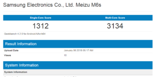 Meizu M6s Seen on Geekbench, Sports Hexa-Core Processor