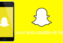 Devices not compatible with Snapchat Lenses