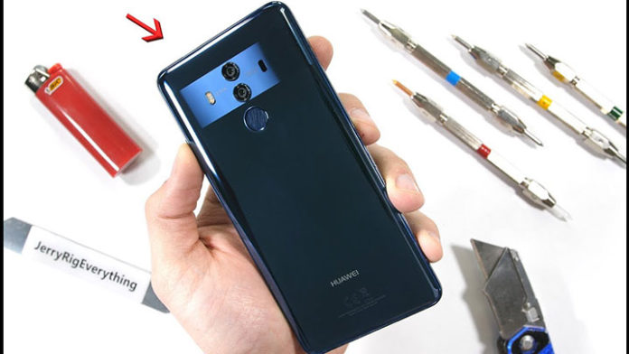 Huawei Mate 10 Pro survives bend and scratch test